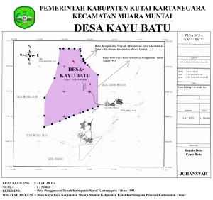 Peta Wilayah Desa Kayu Batu Tahun 1993